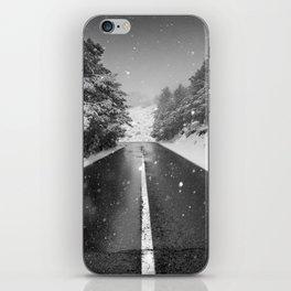 """The road"". Bw iPhone Skin"