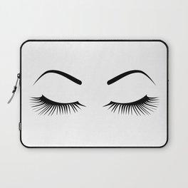 Closed Eyelashes (Both Eyes) Laptop Sleeve