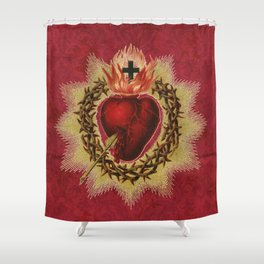 Sacred Heart RED Shower Curtain