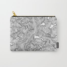 Enveloping Lines Carry-All Pouch