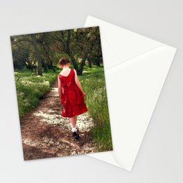 Solitary Walk. © J&S Montague. Stationery Cards