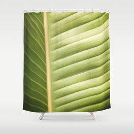 Retro Palm Leaf Abstract Shower Curtain