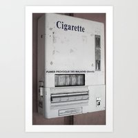 cigarette Art Prints featuring Cigarette by Upperleft Studios