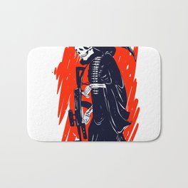 Military skeleton - grim soldier - gothic reaper Bath Mat