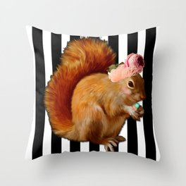Nuts. Throw Pillow