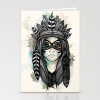 headdress Stationery Cards featuring Headdress by Caleb Swenson