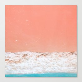 pink sand beach Canvas Print