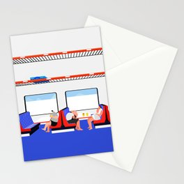 make out on train Stationery Cards