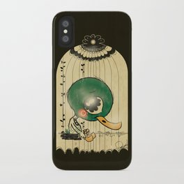 Chinese Idiom: Sitting Duck 插翅难飞 iPhone Case