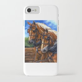 Belgians and Blue Sky iPhone Case