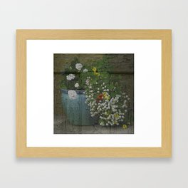 Yachats Oregon - Container Gardening Framed Art Print