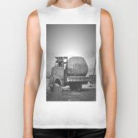 potato Biker Tanks featuring Spud Potato by Jane Lacey Smith