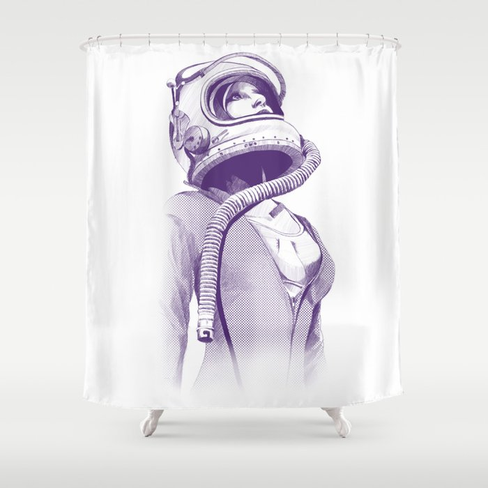 Space Woman Shower Curtain