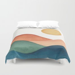 Colorful Abstract Mountains Duvet Cover