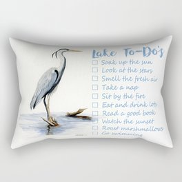 Lake to-do list, cottage sign Rectangular Pillow