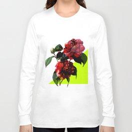 Vintage Blooms /Neon Wedge Long Sleeve T-shirt