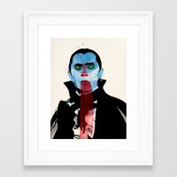 vampire Framed Art Prints featuring Vampire by Alvaro Tapia Hidalgo
