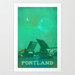 PORTLAND BRIDGE Art Print