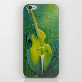 """""""Sunken Dreams"""" Upright Bass Instrument Painting iPhone Skin"""