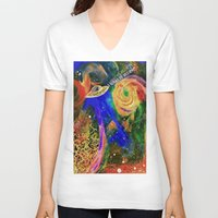 i want to believe V-neck T-shirts featuring I WANT TO BELIEVE by N3GATIVE CR33P