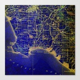 San Pedro Bay OLD MAP 1904, united states vintage maps Canvas Print