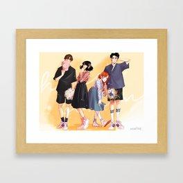 Honey Lemon - Hanbok Fashion Framed Art Print