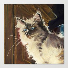 The Magnificent Ascent of the Mighty Bear Detail (Ragdoll Kitten) Canvas Print