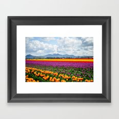 Bright Fields and Mountains Framed Art Print