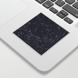 Constellation Map - Indigo Sticker