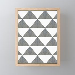 Cement White Triangles Framed Mini Art Print