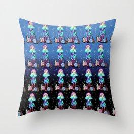 Apprentice sorcerer anime girl pattern Throw Pillow