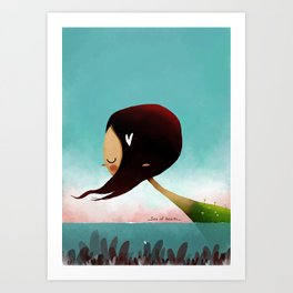 Sea Of Hearts Art Print