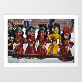 nepalese puppets Art Print