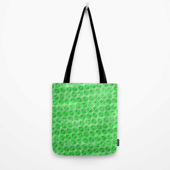 Green Geometric Pattern Tote Bag