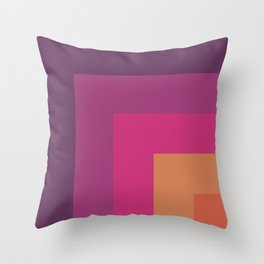 Striped Corners 2 Throw Pillow