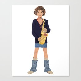 Clarinet and Girl Canvas Print