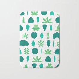 Leaf Shapes and Arrangements Pattern Bright Bath Mat