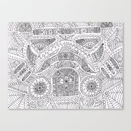 Day of the dead trooper doodle Canvas Print