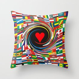 ONE WORLD-ONE LOVE Throw Pillow