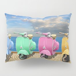 Scooter in bright colors Pillow Sham