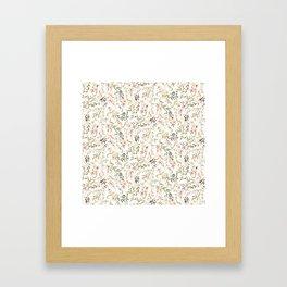 Dainty Intricate Pastel Floral Pattern Framed Art Print