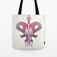 flamingo Tote Bags featuring flamingo by Manoou