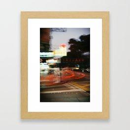 Hong Kong City Light Framed Art Print