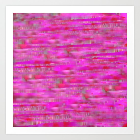 Lines ~ Abstract  Pink Art Print