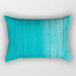 Teal Brush Strokes Rectangular Pillow