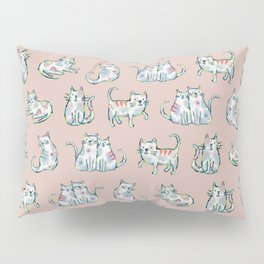 Sketchy Cat Pattern Pillow Sham