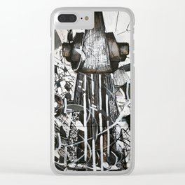 Upright bass Clear iPhone Case
