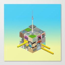Mein Berliner Würfel / My Berlin Cube Canvas Print