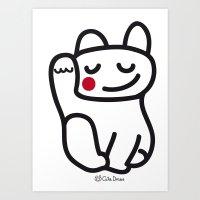 Cutie Draws Logo Art Print