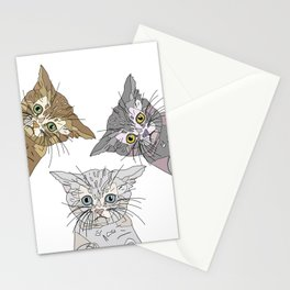 Triple Kitties Stationery Cards